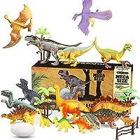 WOSTOO Dinosaurie leksaksset, 23 st. pedagogiska dinosaurieleksaker lekset realistiska dinosaurier Jurassic World…