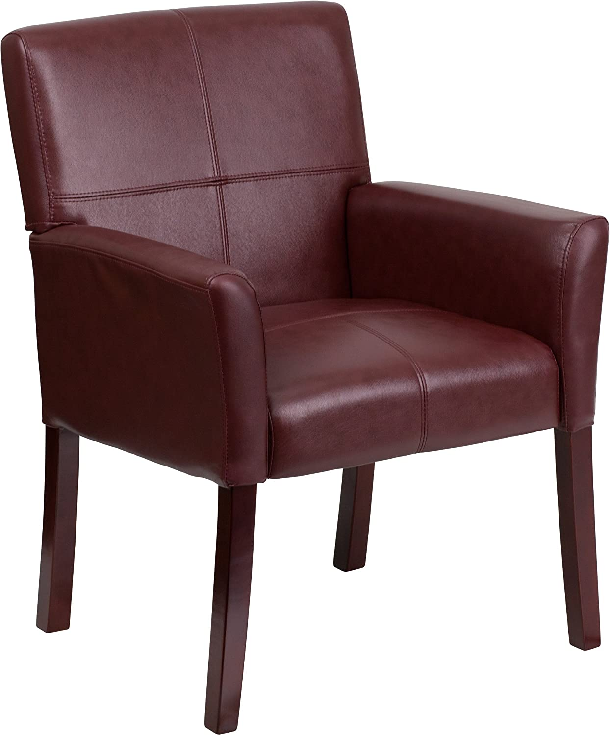 Flash Furniture Burgundy Leather Side Chair