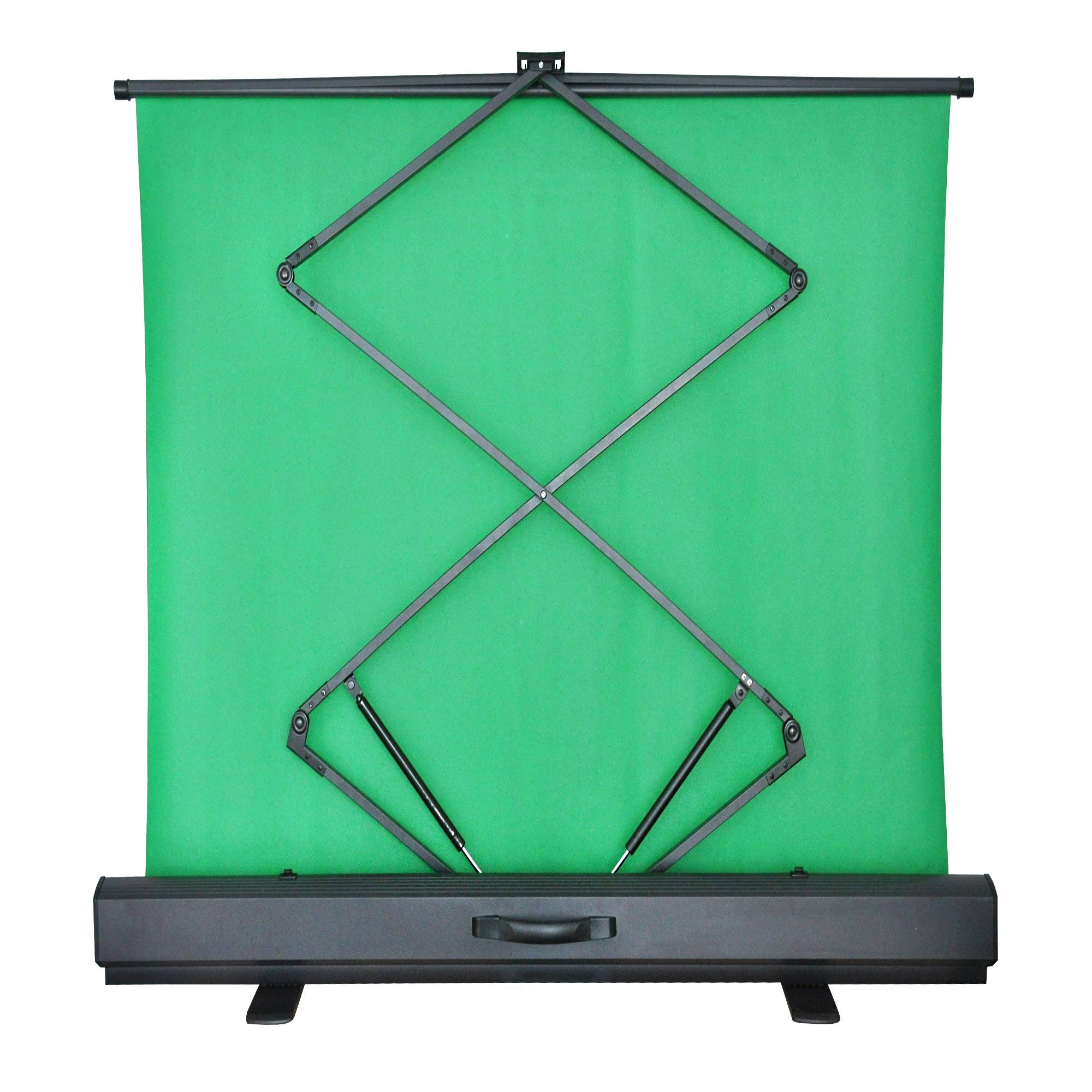 MAXTEX Green Screen, Portable Pull Up Wrinkle-Resistant Greenscreen Background Pull Up Backdrops Green Screen Backdrop Setup Auto-Locking Frame, Solid Safety Aluminium Base by MAXTEX (Image #2)