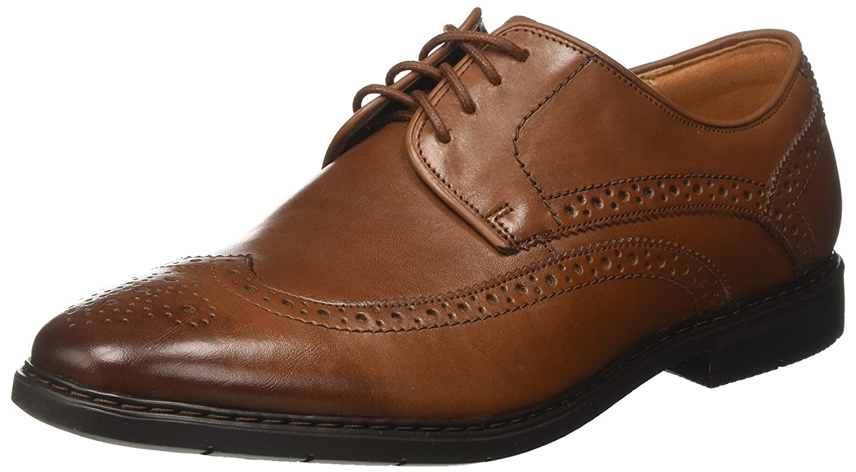 Clarks Banbury Limit, Zapatos de Cordones Brogue para Hombre 44 EU Marrón (British Tan Lea)