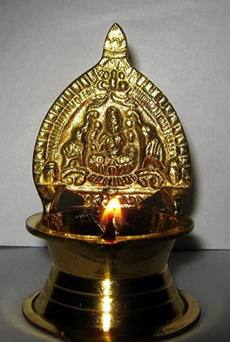 Artcollectibles Inde Kamakshi Lampe A Huile En Laiton Diya Religieux
