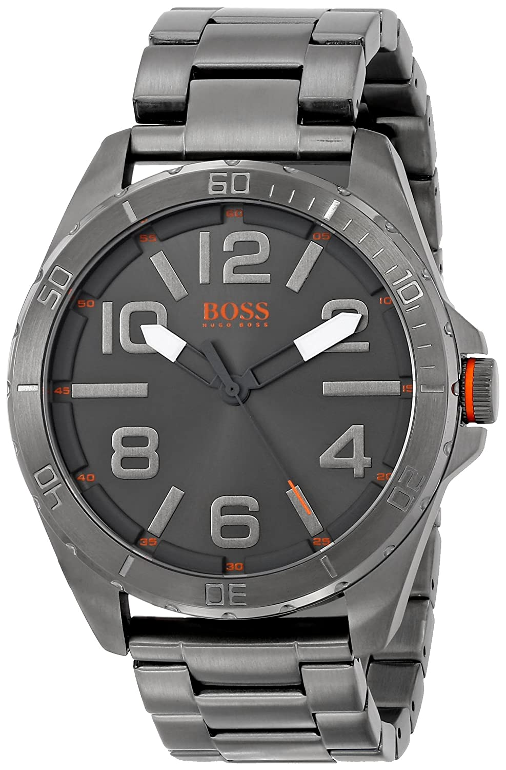 BOSS Orange Herren 1512999 Berlin Analog Display Quartz Grey Armbanduhr