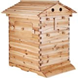"""Mophorn Beehive Auto Flow 20""""X16""""X10"""" Beehive Frames Woode Automatic Honey Bee Hive House with 7 PCS Auto Flow Honey Hive (Beehive Frame and Auto Flow )"""