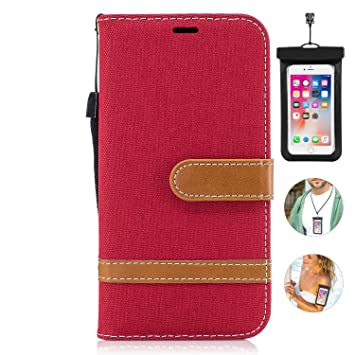 Flip Case for Samsung Galaxy Note9 Luxury Leather Wallet Cover with Viewing Stand and Card Slots Bussiness Phone Case with Free Waterproof-Case