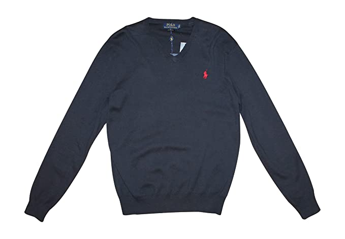 9aacb80223cc39 Image Unavailable. Image not available for. Color: Polo Ralph Lauren Mens  Pima Cotton V-neck Pullover ...