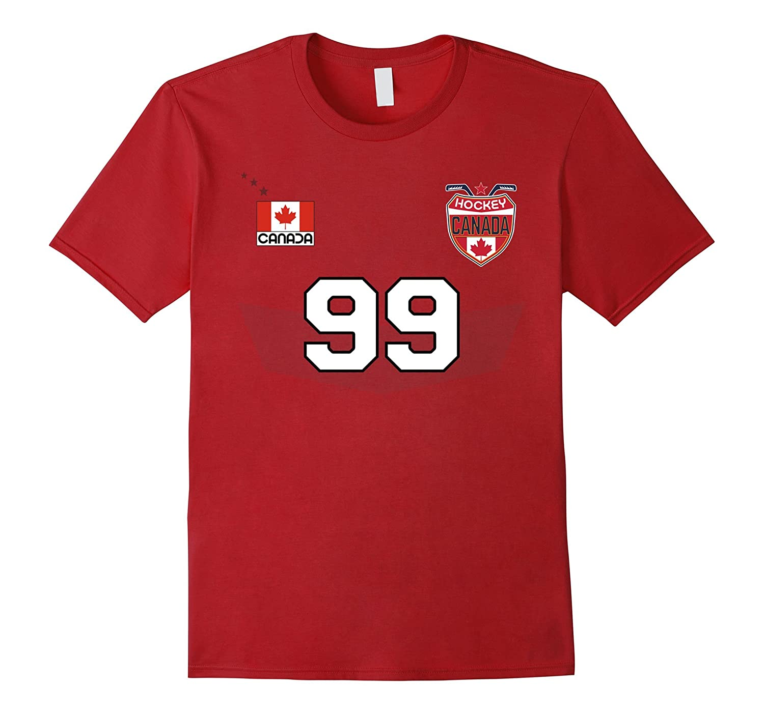 Fanmade Canada Hockey Team T Shirt With Number 99 ANZ