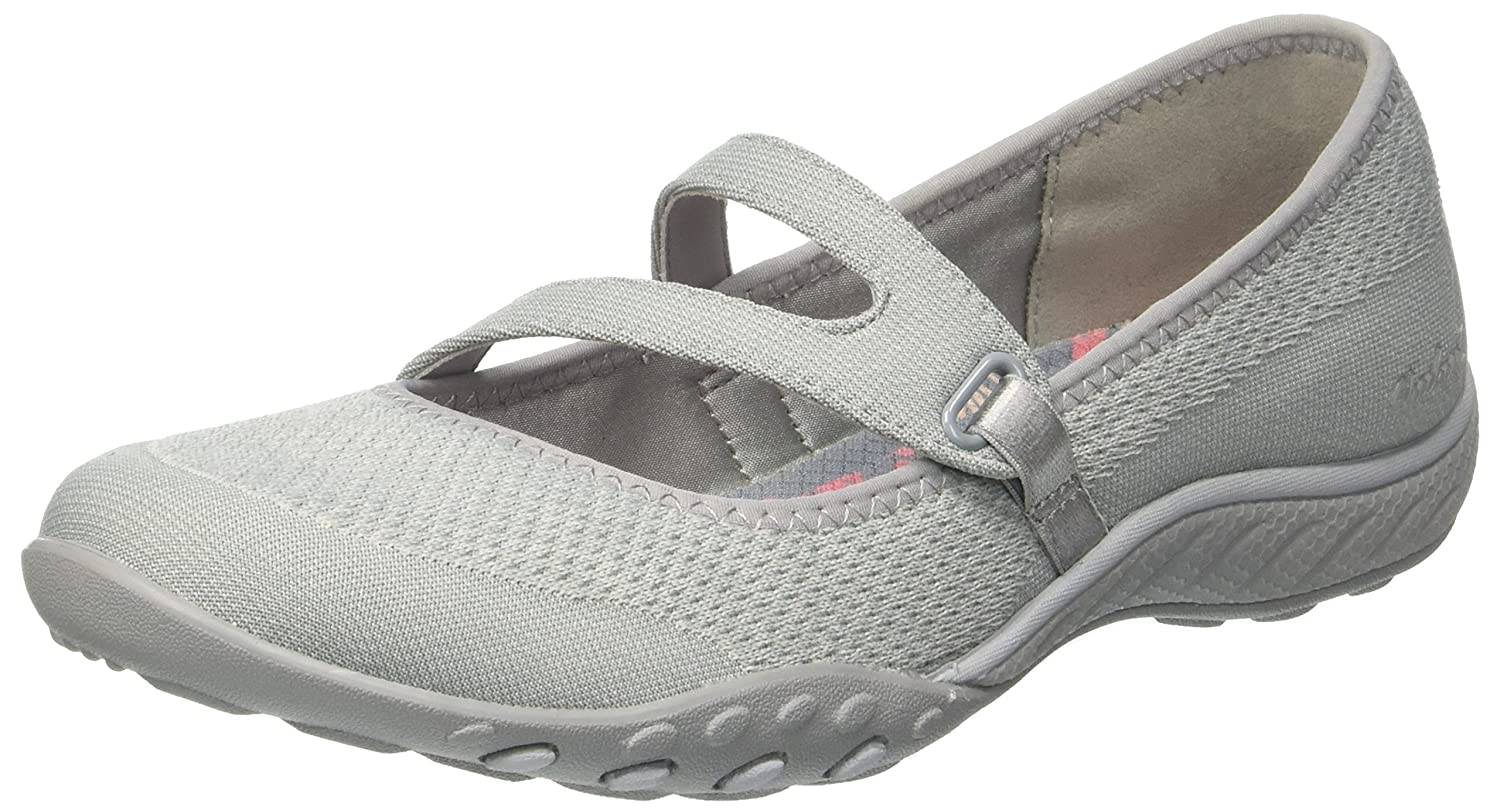 Skechers Breathe Easy-Lucky Lady, Merceditas para Mujer 37 EU|Gris (Light Grey)
