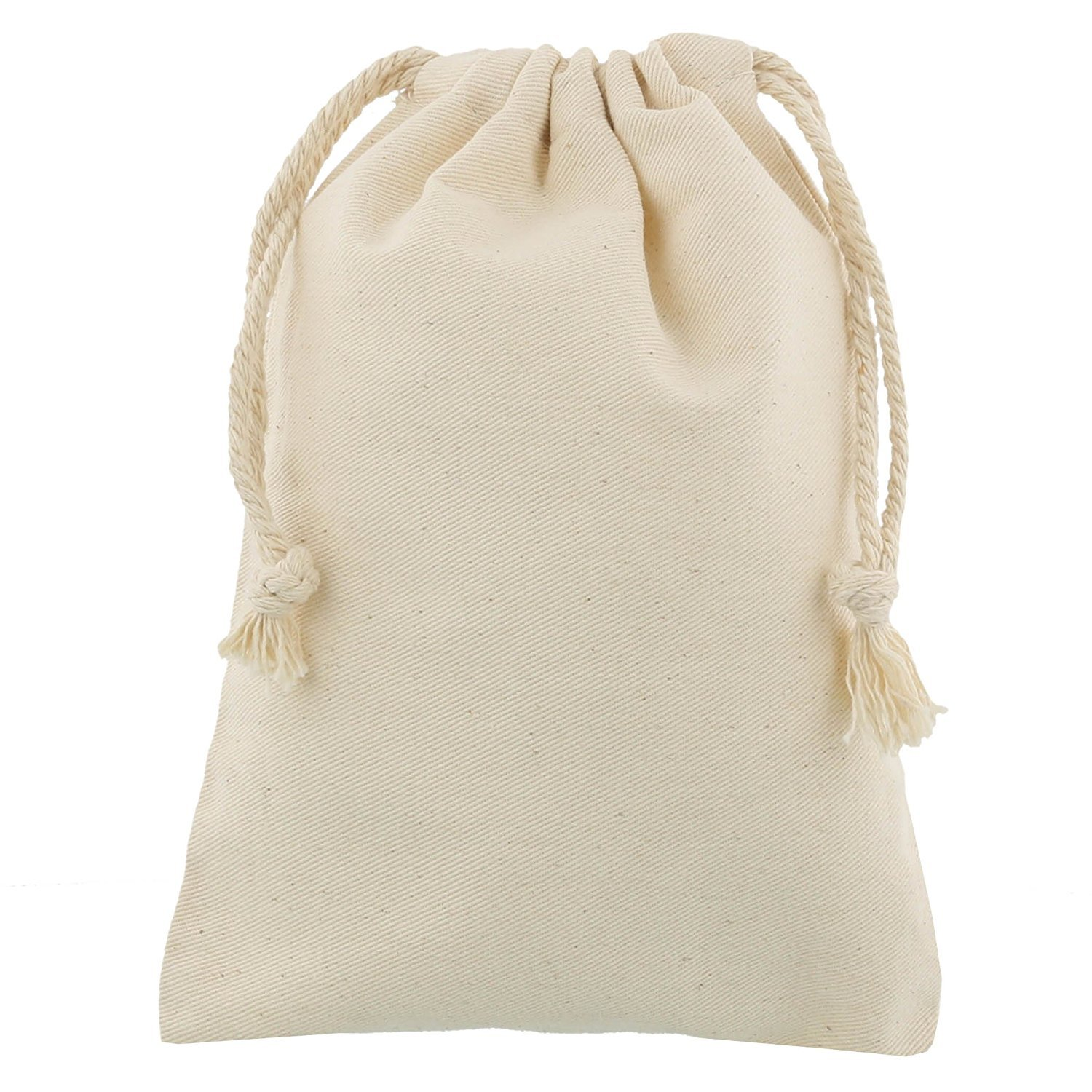 100 pcs small 100% cotton drawstring bags 10x15 cm shingyo