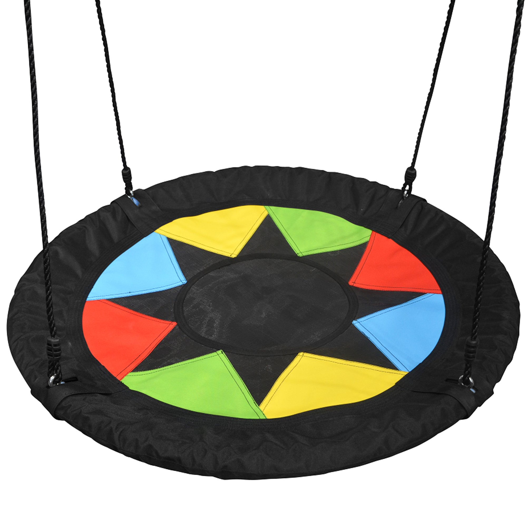 Play Platoon Flying Saucer Tree Swing - 400 lb Weight Capacity, Fully Assembled, Easy to Install by Play Platoon