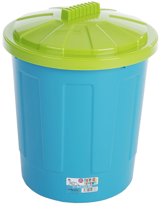 Whatmore 21 Litre Plastic Kids Toy Storage Fun Bin Wham 21Litre 11881