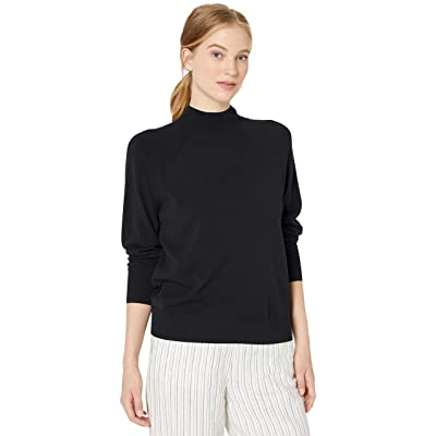 Brand - Daily Ritual Women's Fine Gauge Stretch Mockneck Pullover Sweater: Clothing