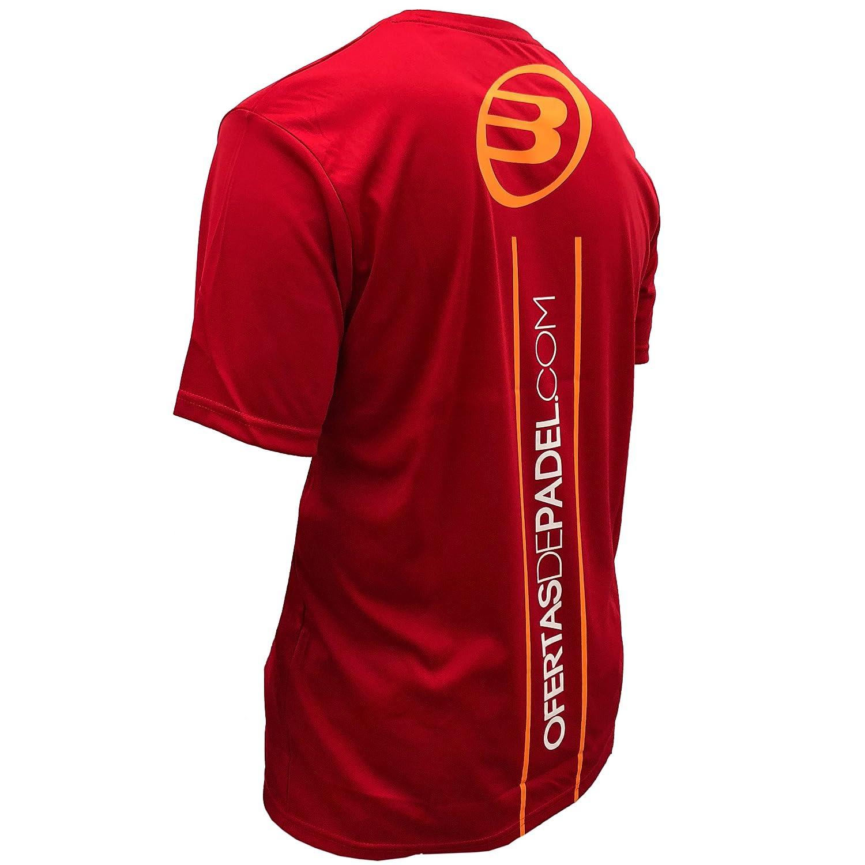 Camiseta Bullpadel Rojo ODP (M): Amazon.es: Deportes y aire ...