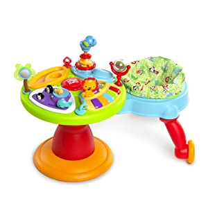 Bright Starts 3-in-1 Around We Go Activity Center, Red1