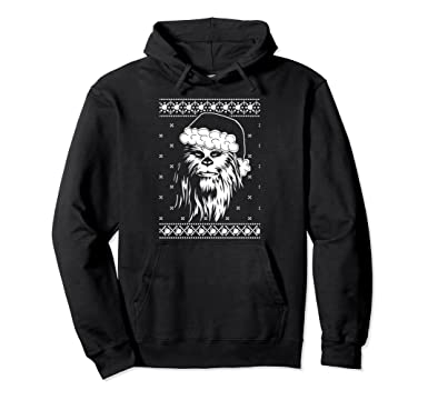 Amazoncom Star Wars Ugly Christmas Sweater Chewbacca Santa - Hoodie will turn you into chewbacca from star wars