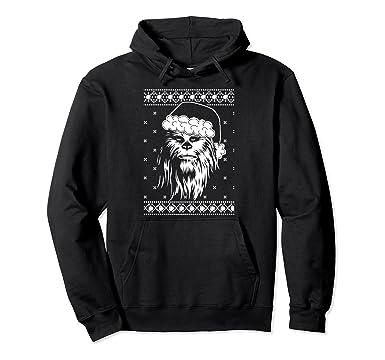 Amazoncom Star Wars Ugly Christmas Sweater Chewbacca Santa - Hoodie will turn you into chewbacca from star wars