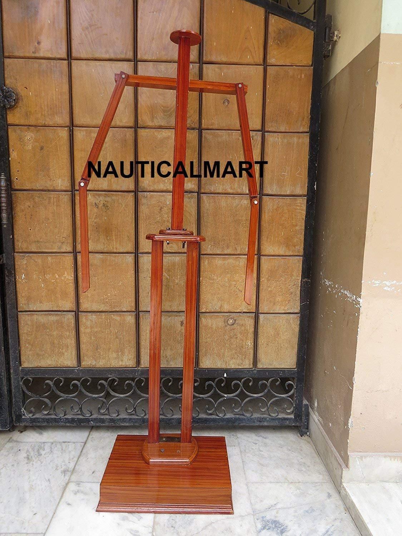 NAUTICALMART Full Suit of Armor Wooden Stand