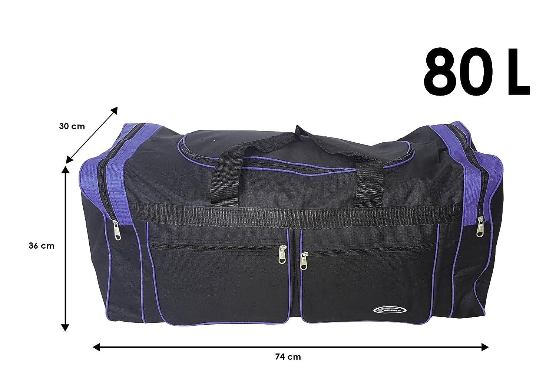 Camping et stockage Gym Valise Id/éal pour sport Voyage Sac xL de sport Extra large de 80 litres