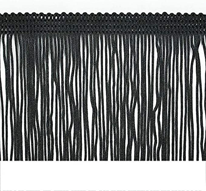 Brushed Fringe 2-Inch Long Chainette Polyester Fringe in 10 Yard Rolls P-7043 in Color 11 Gray