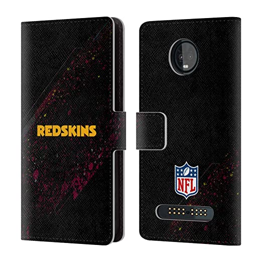 Amazon.com  Official NFL Blur Washington Redskins Logo Leather Book Wallet  Case Cover for Motorola Moto Z3   Z3 Play  Cell Phones   Accessories b1a07eee2