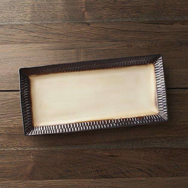 Scavo Rectangular Platter | Crate and Barrel