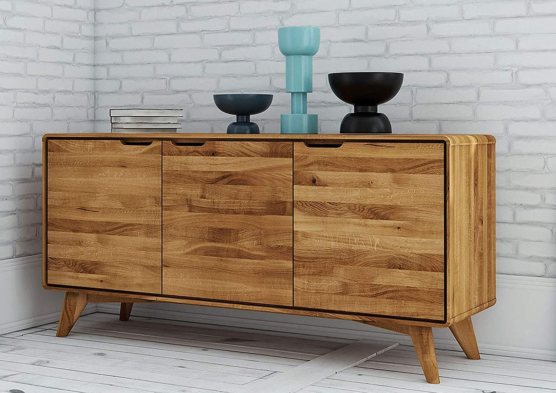 MASSIVMOEBEL24.DE MALMÖ #19 - Mueble para televisor (madera de roble, 134 x 40 x 63 cm, barnizado): Amazon.es: Juguetes y juegos