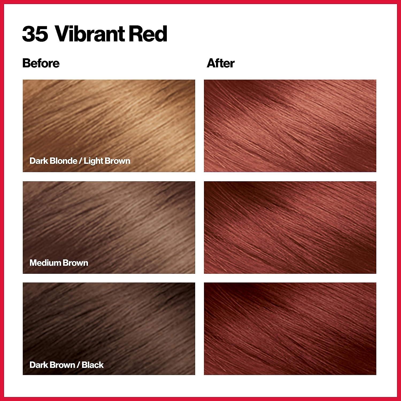 Revlon ColorSilk Tinte de Cabello Permanente Tono #35 Rojo ...