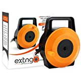 EXTNGO Retractable Ethernet Cable, 50 Feet (15 Meter) CAT6 Flat Internet Extension Cord Reel - Portable 1 Gbps Data Speed - Swiftly Setup & Extend Networks - Male-Female RJ 45 Connector UTP Extender