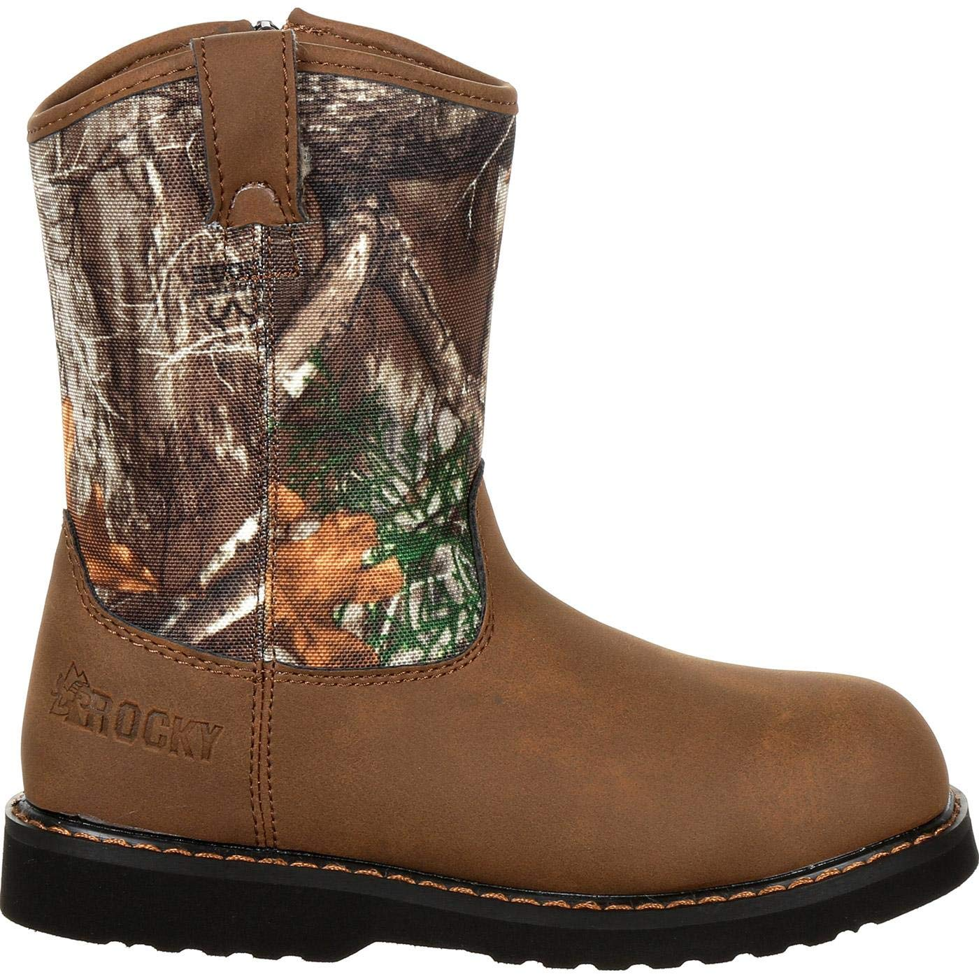 dec0b185139 Amazon.com | Rocky Big Kids' Lil Ropers Outdoor Boot Camouflage | Boots