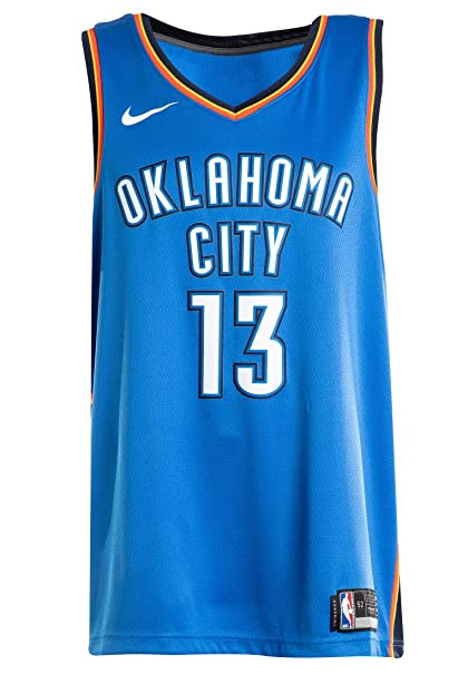 buy popular e02e5 18bd5 Image Unavailable. Image not available for. Color  NIKE Men s Paul George  Oklahoma City Thunder NBA Icon Edition Swingman Jersey ...