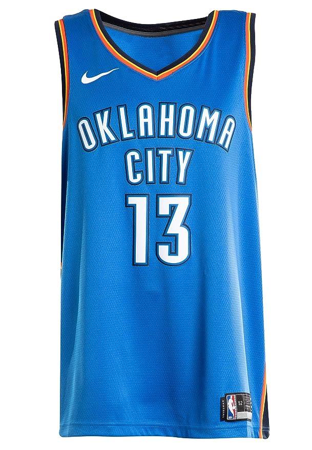 4ad36b06132 Amazon.com : NIKE Men's Paul George Oklahoma City Thunder NBA Icon Edition Swingman  Jersey Size S 40 : Sports & Outdoors