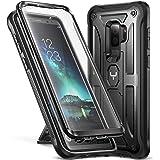 Galaxy S9+ Plus 手机壳,YOUMAKER 带内置屏幕保护膜防震手机壳适用于三星 Galaxy S9 Plus 6.2 英寸(2018 版本)IB-Test-YMK Black [Galaxy S9+] Retail Package