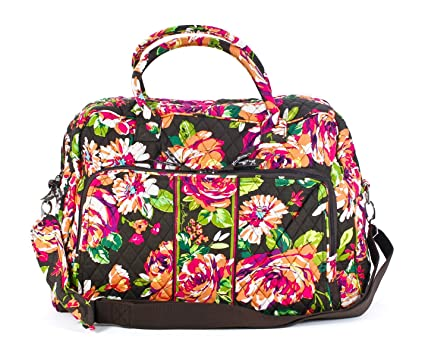 be7953c9d0 Image Unavailable. Image not available for. Color  Vera Bradley Weekender (English  Rose)
