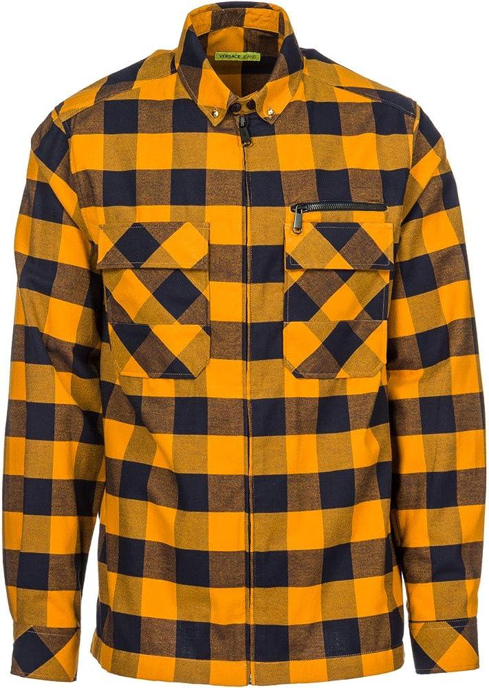 Versace Jeans Camisa de Mangas largas Hombre Nuevo naranjane EU 48 (UK 38) B1GSB607: Amazon.es: Ropa y accesorios
