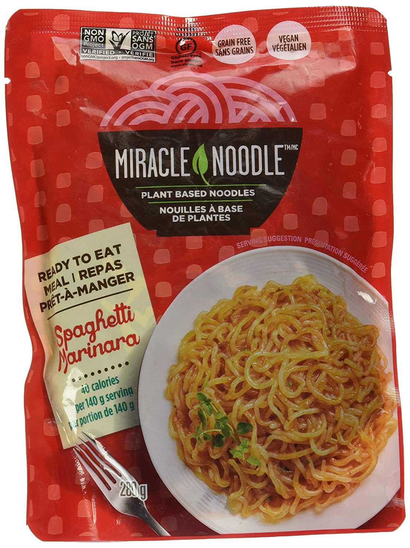 Miracle Noodle Ready-to-Eat Meal Spaghetti Marinara, 0.56 lb