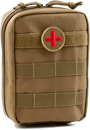 Orca Tactical MOLLE EMT Medical First Aid Utility Pouch (Bag Only) (Tan)