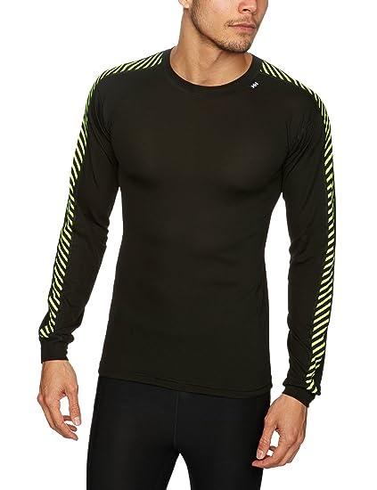 Helly Hansen Men s Lifa Stripe Crew Lightweight Breathable Moisture Wicking  Thermal Baselayer 5886e6a2de5b