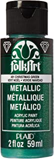 product image for FolkArt Metallic Acrylic Paint in Assorted Colors (2 oz), 491, Christmas Green