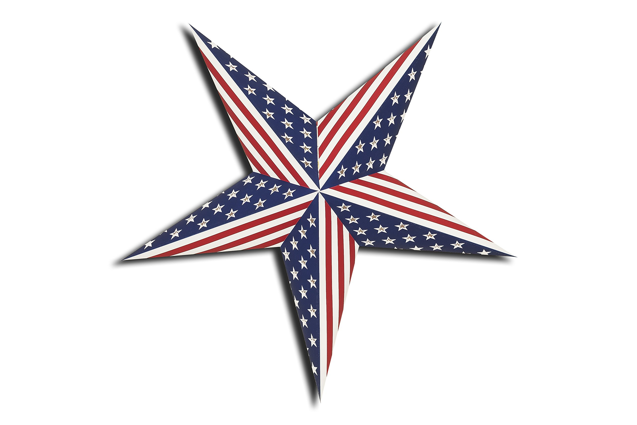 GalaxyArts USA Flag - Paper Star Lantern - United States of America Patriotism 4th July Independence Day Memorial Day Presidents Day Party Decoration - Handmade (1)