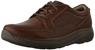 Clarks Men's Charton Vibe Oxford, Brown Leather, 10 M US