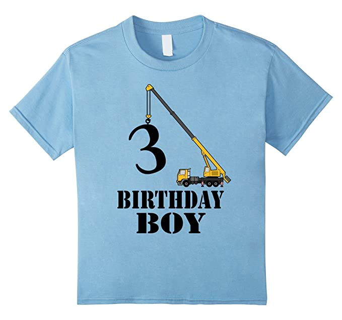 Kids 3 Birthday Boy Shirt Years Old 3rd Gift 4 Baby Blue
