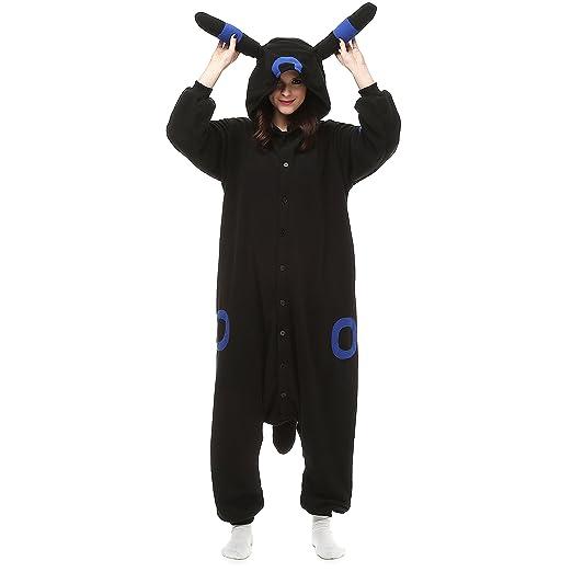 Engerla Cartoon Blue Umbreon Halloween Costume Cosplay Pajamas(S)