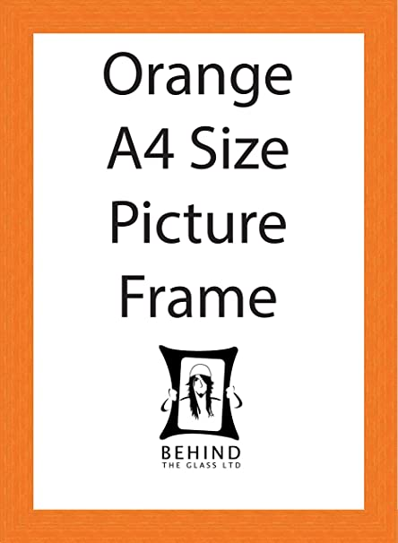 Behind The Glass Handmade Orange Wooden Picture Frame - A4 Size ...