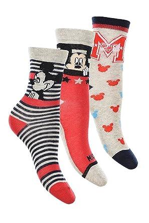 6 pares de calcetines algodon 6 modelos diferentes varios colores diseño Mickey (Disney) 23
