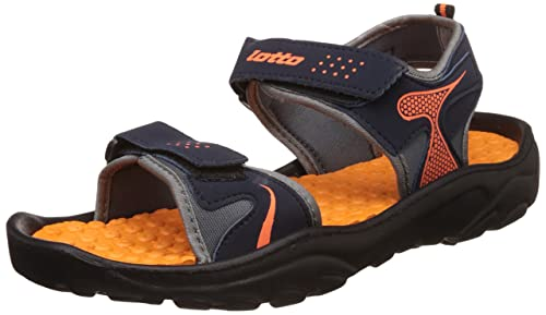5ed52e1d4 Lotto Men s Black Orange Sandals and Floaters - 9 UK India (43 EU ...