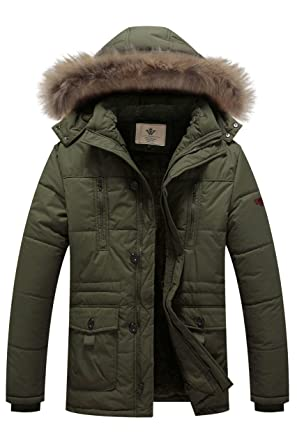 WenVen Men's Hooded Warm Coat Winter Parka Jacket at Amazon Men's ...