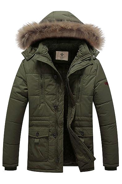 WenVen Men's Hooded Warm Coat Winter Parka Jacket at Amazon Men's ...