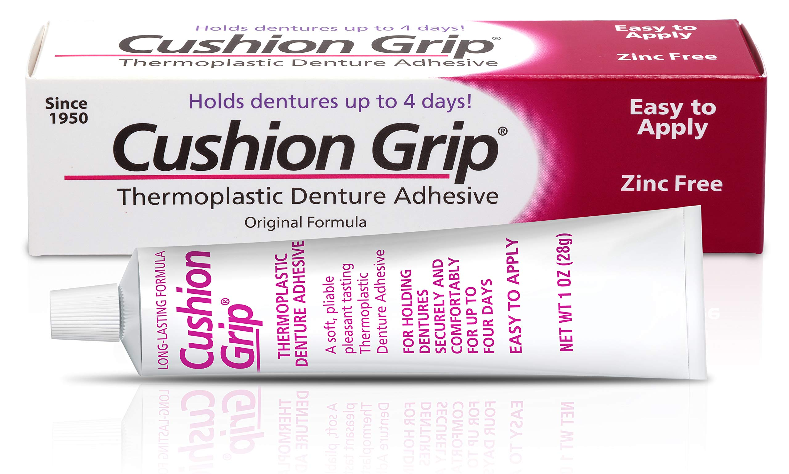 Cushion Grip - Thermoplastic Denture Adhesive 1 Oz (28 Grams)