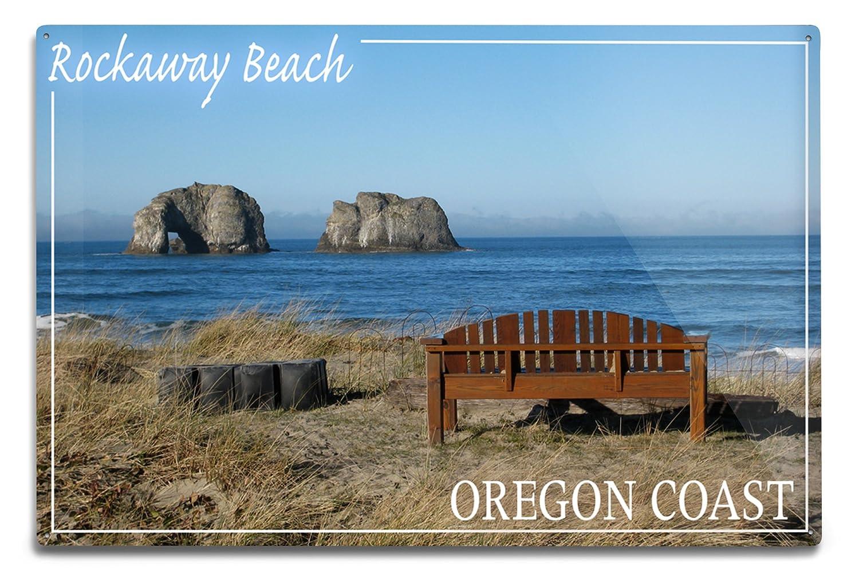 【国産】 Rockaway Beach Sign、オレゴン州 – Rockaway LANT-49238-16x24 Beach andベンチ 16 24 x 24 Giclee Print LANT-49238-16x24 B06Y1GHJ5D 12 x 18 Metal Sign 12 x 18 Metal Sign, encounter 5:e9346aae --- granjalailusion.com.ar