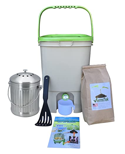 Amazon.com: vermikashi salvado Compost Kit Deluxe Modelo ...
