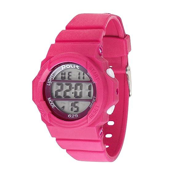 Wolfteeth niñas Digital Relojes de Pulsera Reloj Deportivo electrónico al Aire Libre Resistente al Agua Día de Escuela Reloj de Pulsera Rosa Roja 309301: ...